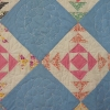antique quilt close-up